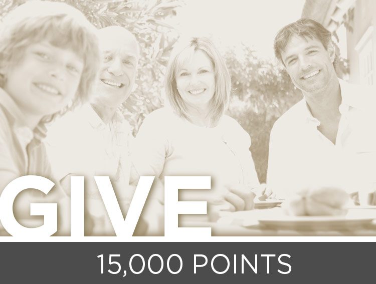 Donate Your Points - 15,000 points